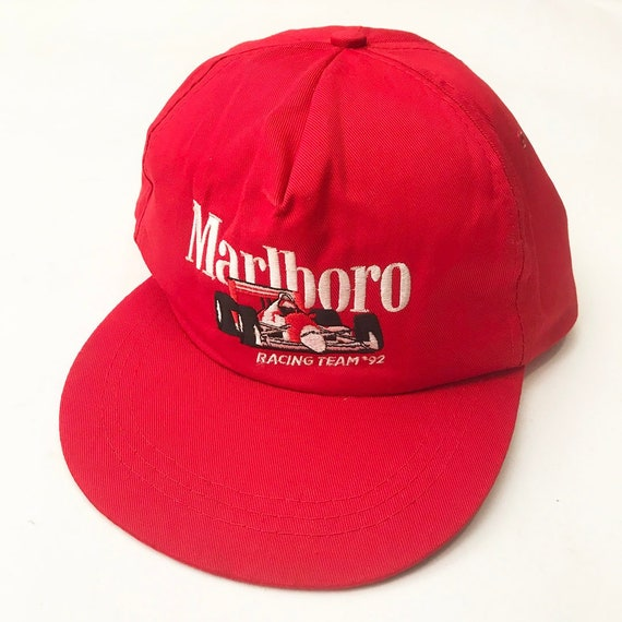 285d013fa6c Vintage Marlboro cigarettes 92 racing snapback