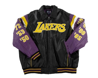 1629fe765 Los Angeles Lakers 16x Finals Champions Leather Jacket