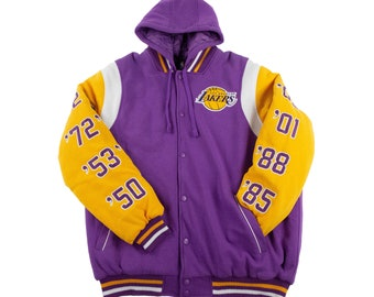 28f59a816 Los Angeles Lakers Commemorative Jacket w  Removable Hood