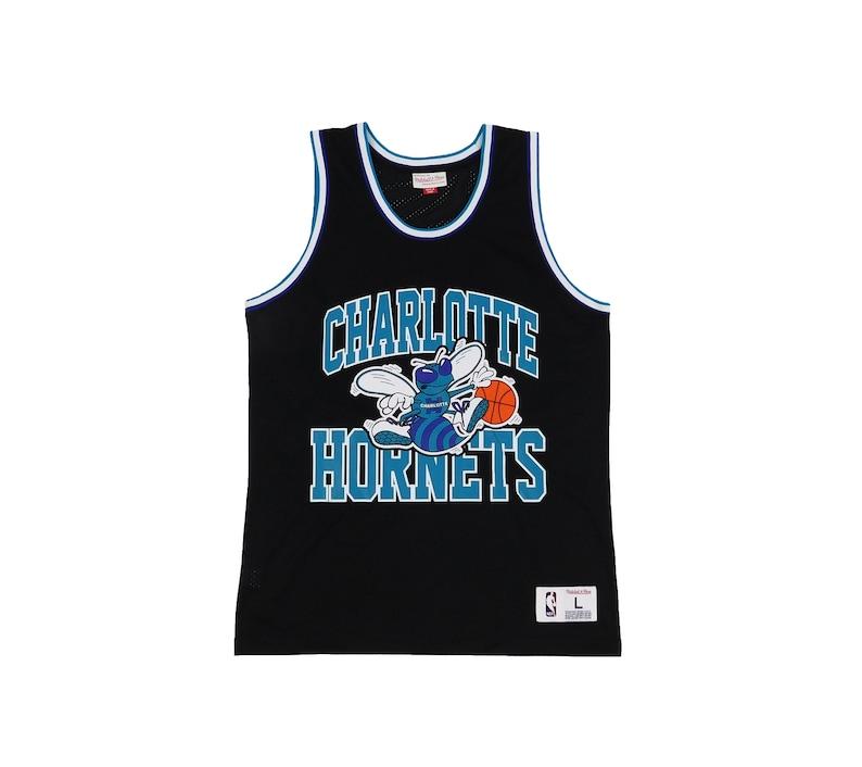 big sale b44bd 3e36f Throwback Mitchell & Ness Charlotte Hornets Jersey
