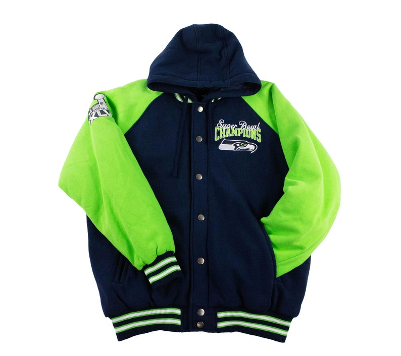 the best attitude ff328 7916d Seattle Seahawks Superbowl Champions Jacket w/ Removable Hood