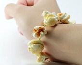 popcorn bracelet, popcorn bracelet, Fimo gourmands jewelry