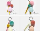 Keychain Easter Macaron, Keychain multi color