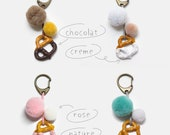 Keychain Grand Bretzel, accessory Fimo gourmands, big pretzel Keyring