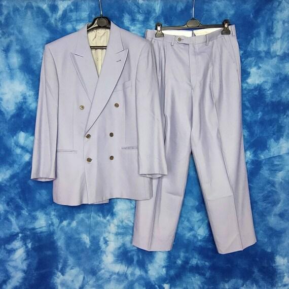 VINTAGE 1989 Enrico Coveri complete mens suit grey