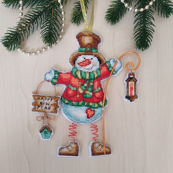 Embroidered Holiday Ornament Christmas Tree