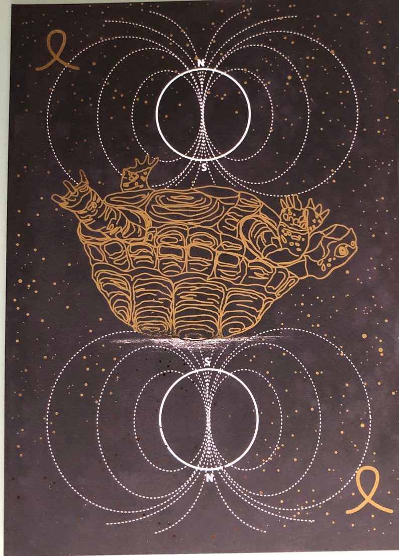 A5 Gold Foil Print of the Flip card from the Reality Coach image 1