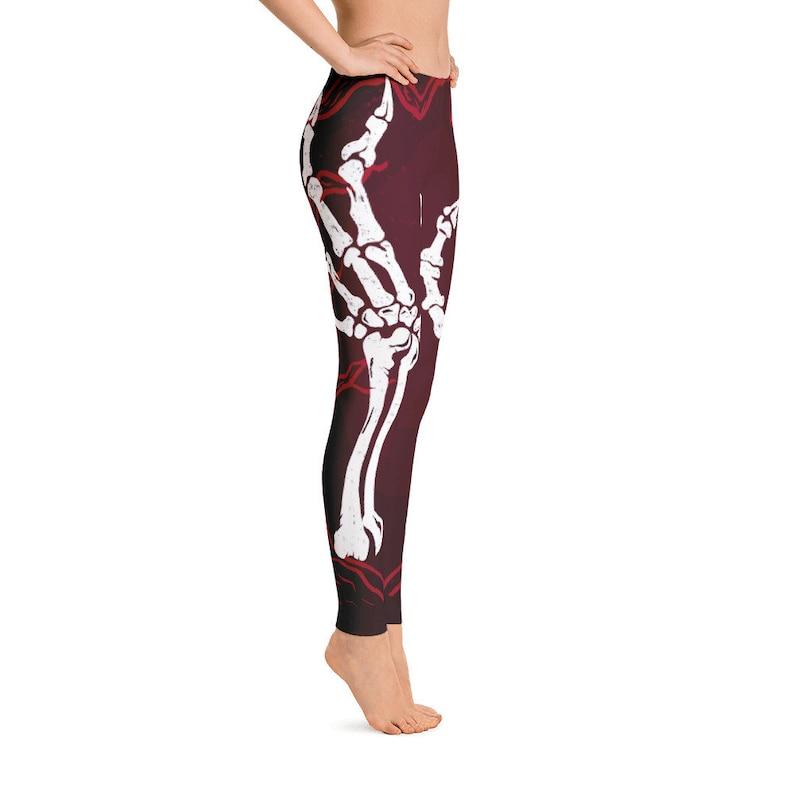 8bf0daac146b7 HAND skull Legging printed leggings SKELETON print legging | Etsy