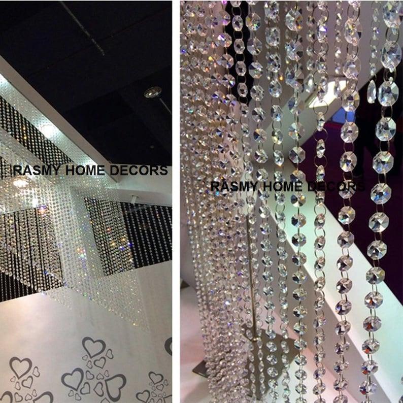 Rasmy Home Decors Customized Crystal Beads Curtain Window Etsy