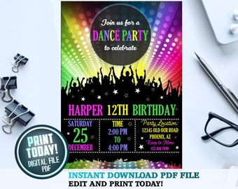 f7aaf7591d Dance party invitation