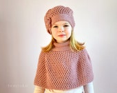 2 CROCHET PATTERNS - New amazing hat beret and cape poncho for baby, toddler, child, teen and adult woman