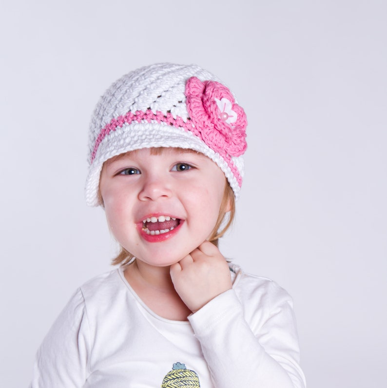 f326f8cb085 Caroline hat with visor crochet pattern for baby toddler