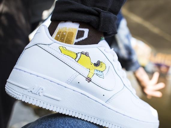 Nike Air Force 1 The Simpsons custom