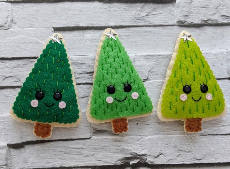 Kawaii Christmas Tree Ornaments. Handmade Christmas image 0
