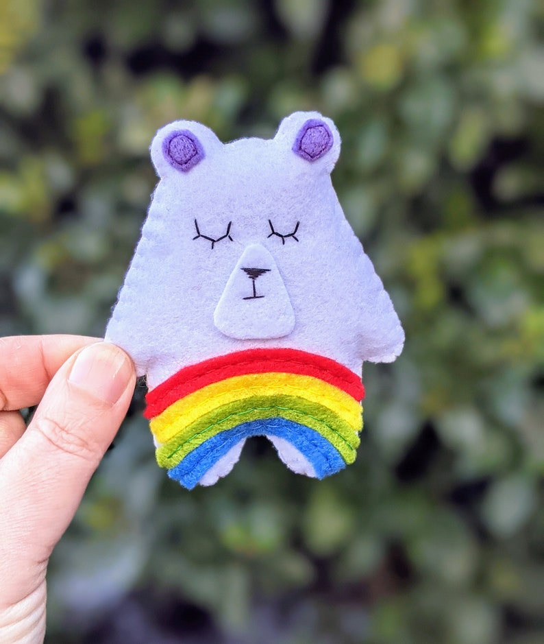 Rainbow Wee Bear Hug. Send a Hug. Thinking of You Gift. image 0