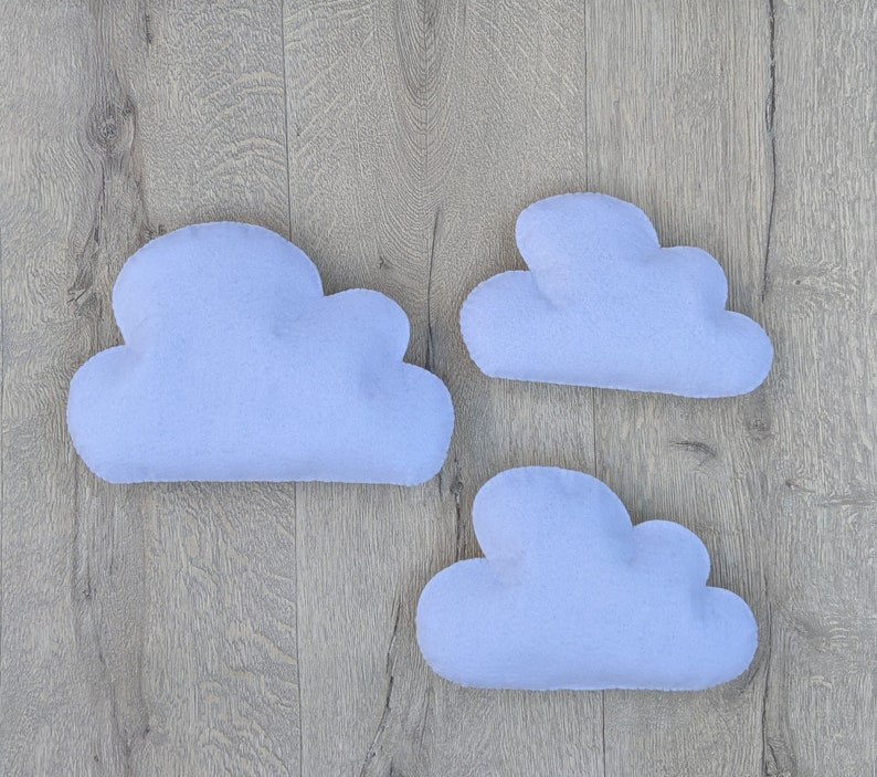 Large Felt Clouds Wall Hanging. White Cloud Nursery Wall image 0