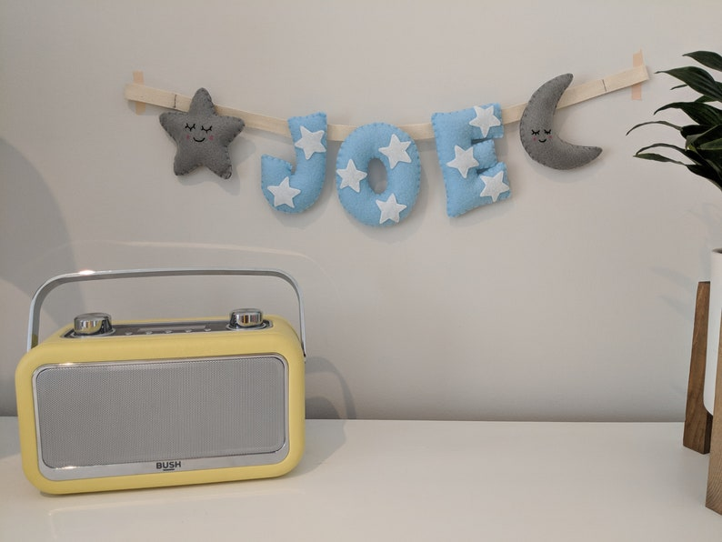 Boy Name Banner Baby Boy Gift Ideal Baby Gift  Baby Shower image 0