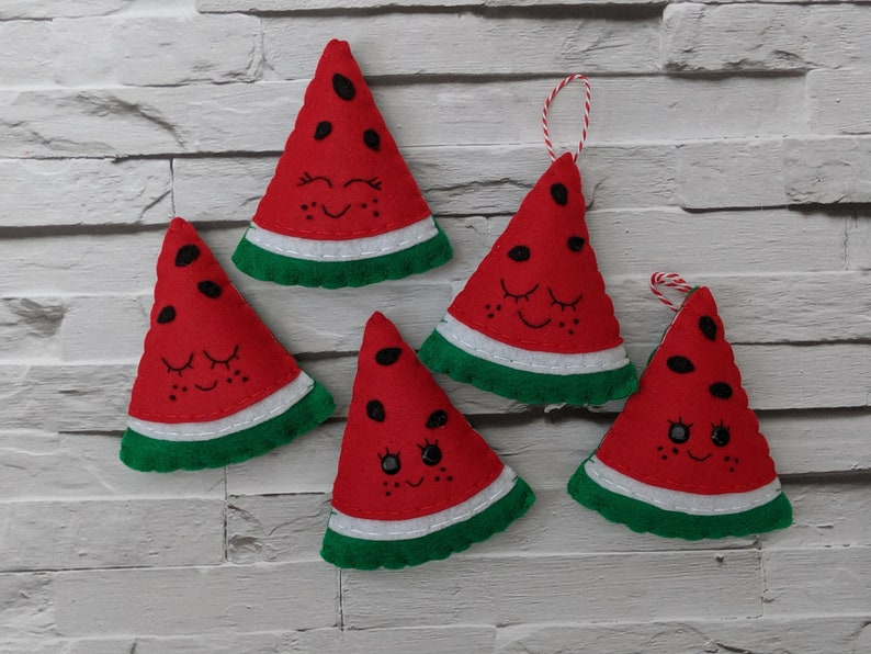 Watermelon Festive Ornaments Felt Christmas Watermelon image 0
