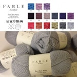 100% Baby Alpaca Yarn from Peru, DK Weight, 50 g, Soft as Cashmere, Luxurious and soft yarn by Fable Handknit
