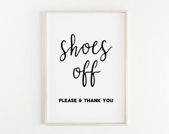 picture relating to Please Remove Your Shoes Sign Printable Free referred to as Sneakers off printable Etsy