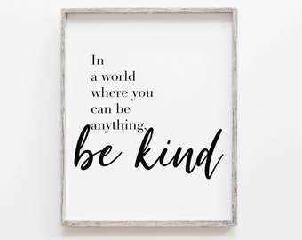 Be Kind Quote Etsy