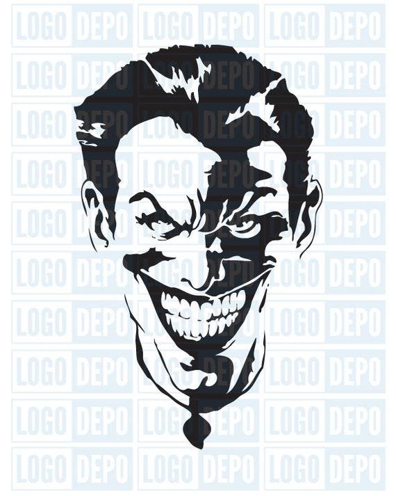 The Joker Svg Joker Svg Joker Artwork Joker Silhouette Etsy