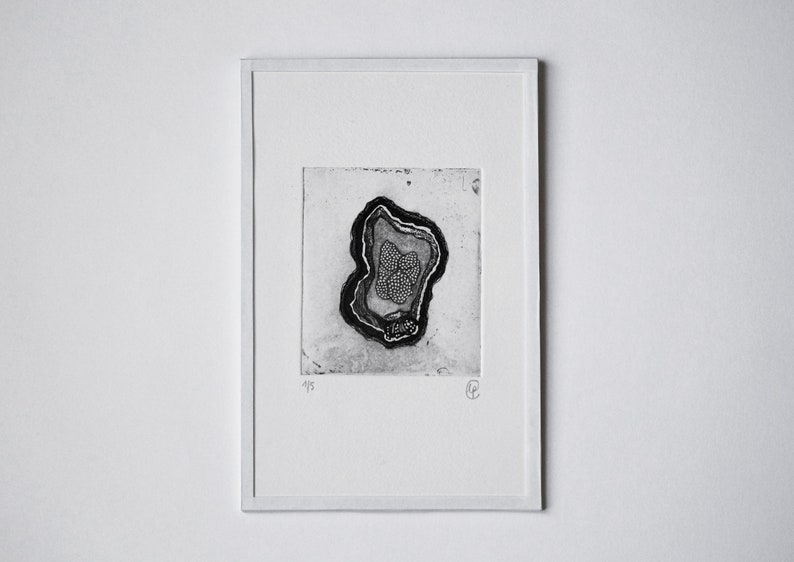 Engraving with Coupe frame etching and aquatinte 16.5x25.5 image 0