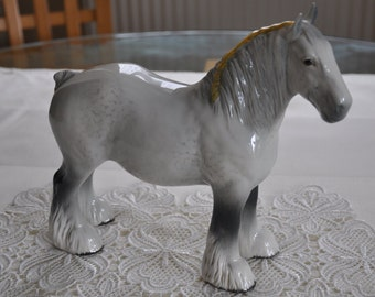 Pottery Pottery, Porcelain & Glass Fine Large Beswick Prancing Horse Model 1549 In Brown Gloss And Foal Attractive Designs;