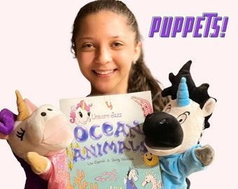 Set of Unicorn Puppets Zebracorn for Girl or Boy - Unicorn Jazz Kids Loved Popular