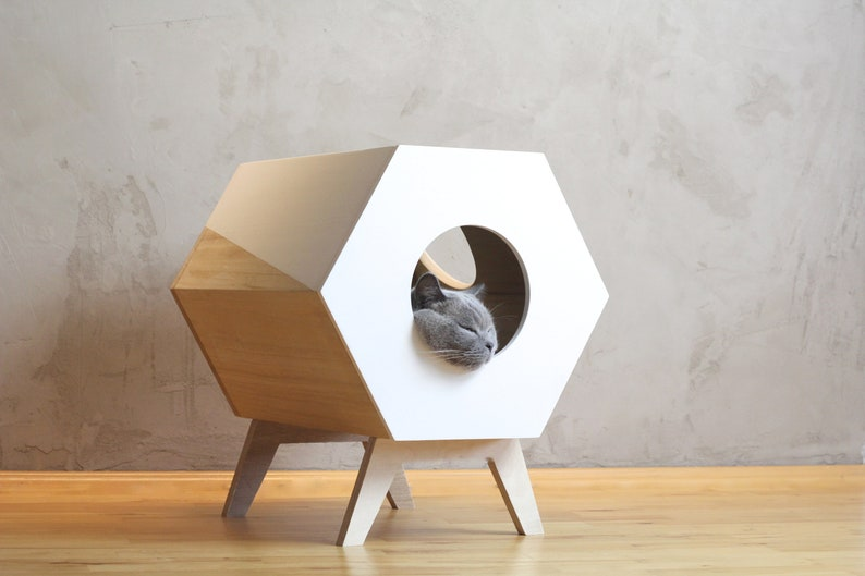 Cat Furniture Design Cat House Modern Cat Bed Pet Etsy