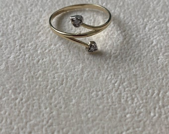Infinity 14k solid gold perfect gift valentine birthday or anniversary size 7