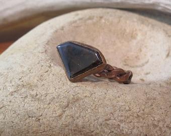 Sphalerite Ring Electroformed Copper
