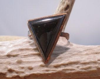 Sphalerite Ring Copper Electroformed