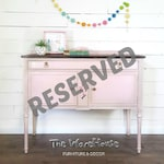 RESERVED - Vintage Pink Buffet, Antique, Shabby Chic, Painted Furniture, Upcycled Furniture, Unique, Hand Painted, Floral