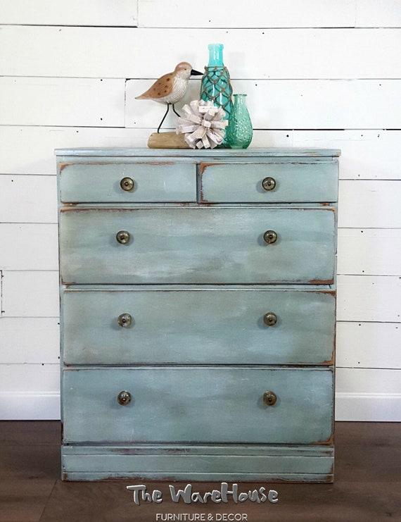 Small Painted Dresser, Blue Dresser, Distressed Dresser, Kids Dresser, Baby  Dresser, Beachy Dresser, Coastal Dresser