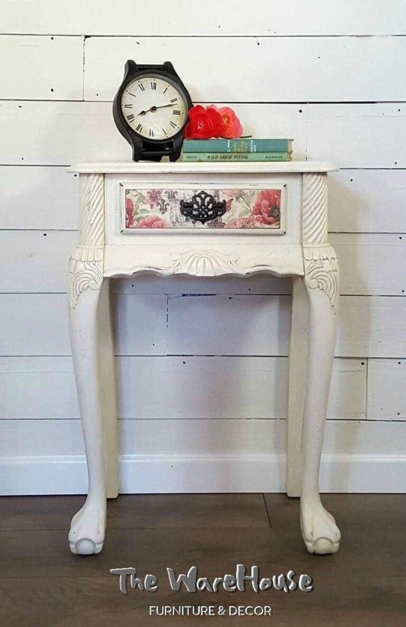 French Country End Table French Country Decor End Table French Vintage Country Home Decor French Country Vintage French