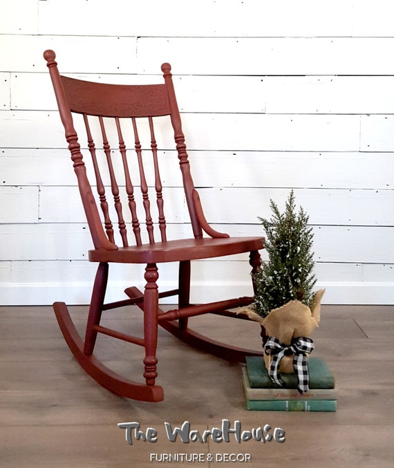 Stupendous Antique Red Rocking Chair Farmhouse Red Chair Indoor Rocking Chair Farmhouse Furniture Antique Chair Vintage Chair Gamerscity Chair Design For Home Gamerscityorg
