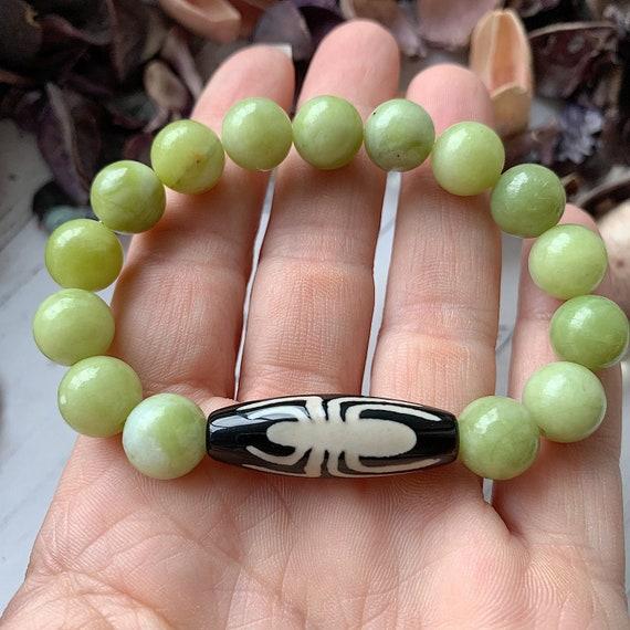 Dzi Bead Spider Money bracelet Amulet of wealth Protective bracelet. Grounding bracelet with JI bead