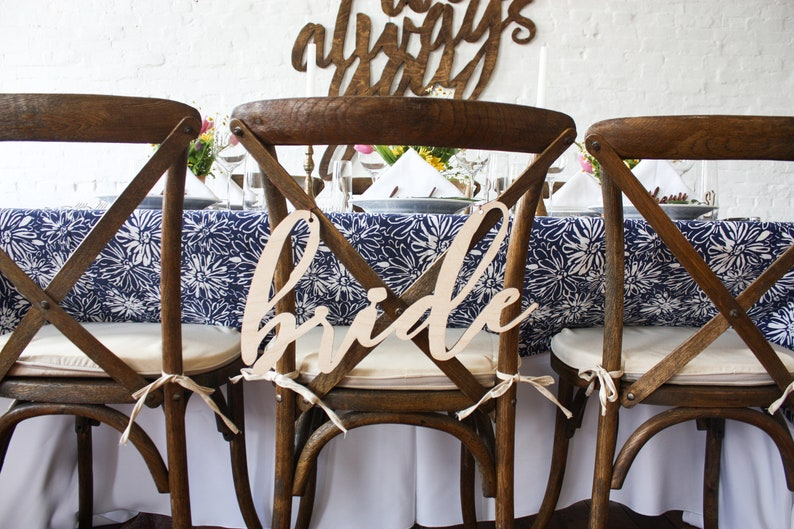 Chair Signage Chair Signs Event Decor Wedding Reception Etsy