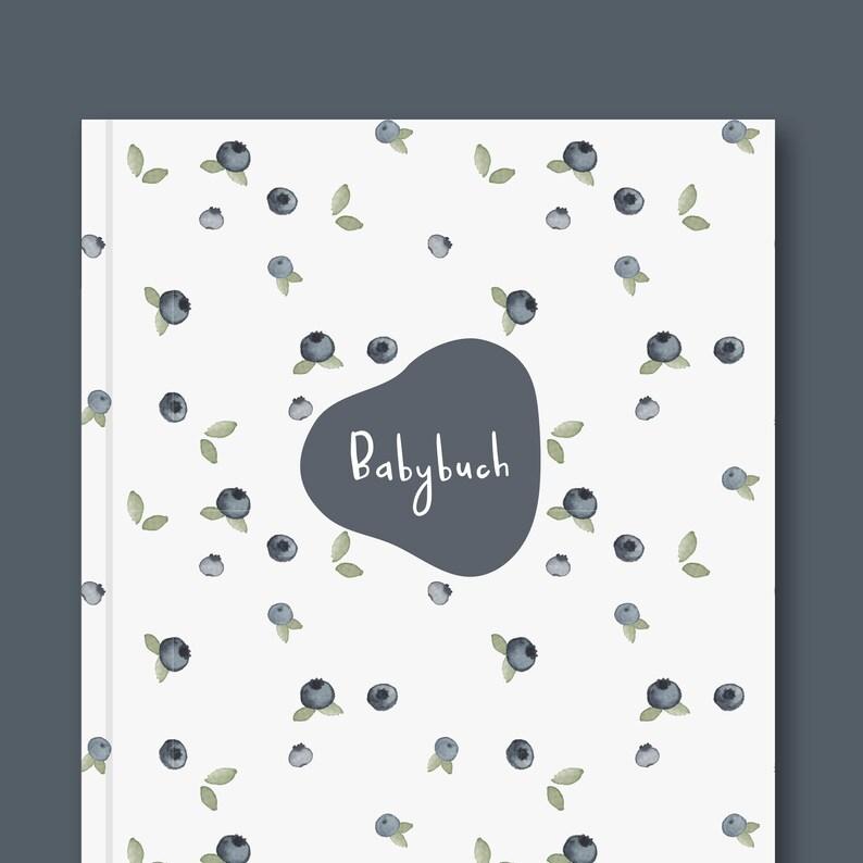 Babybuch  Babytagebuch  Mein erstes Jahr  Blaubeeren image 0