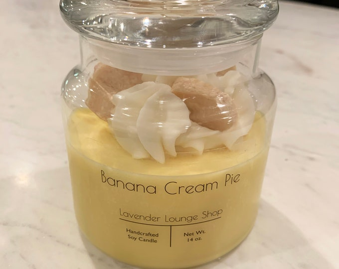 Banana Cream Pie Dessert Candle (Soy and Beeswax blend)