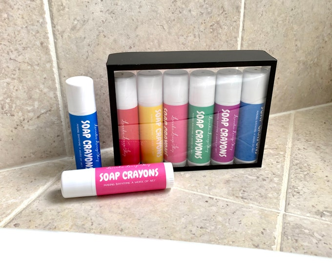 Soap Crayon Set for bath time