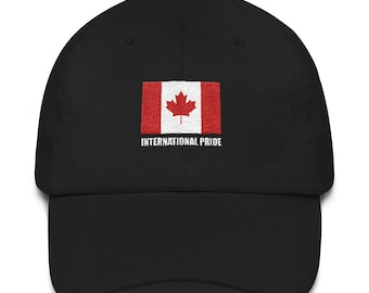 Canada   Canadian Flag Baseball Cap Hat w  curved visor by International  Pride 2a6310da3e06