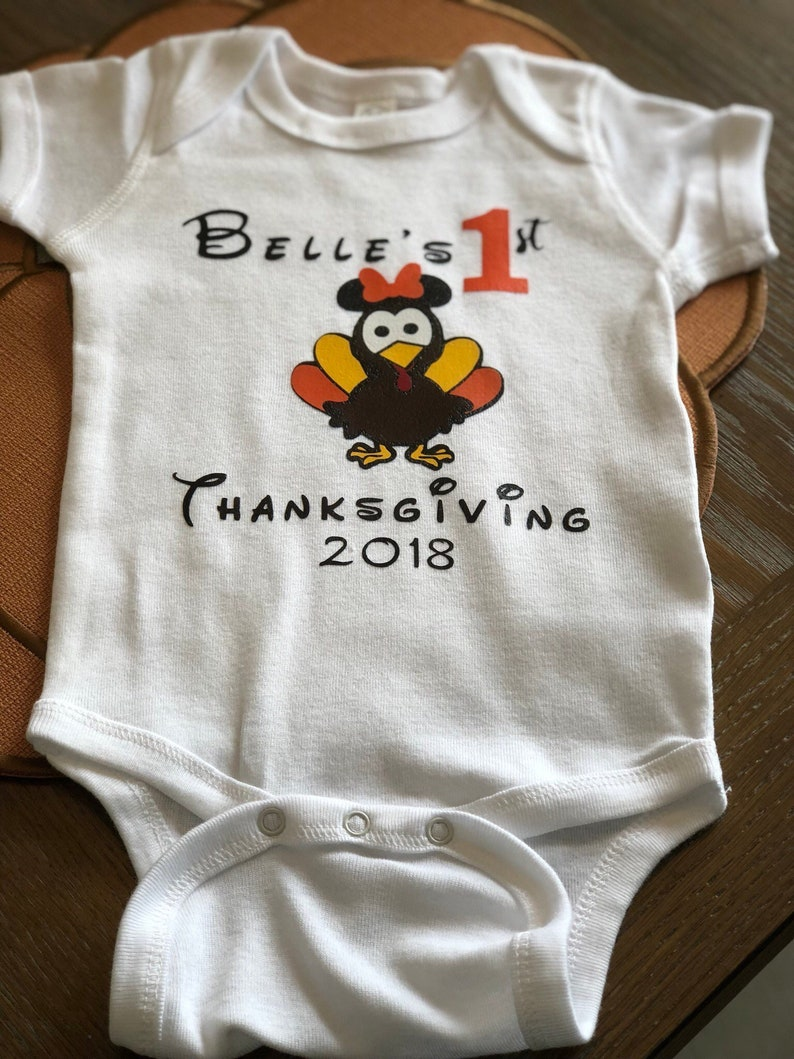 2488404e0823d My 1st First Thanksgiving Turkey Day Bodysuit Vacation Shirt | Etsy