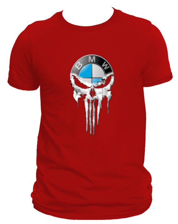 NEW BMW Punisher Mans DTG Print Casual T-Shirt Top