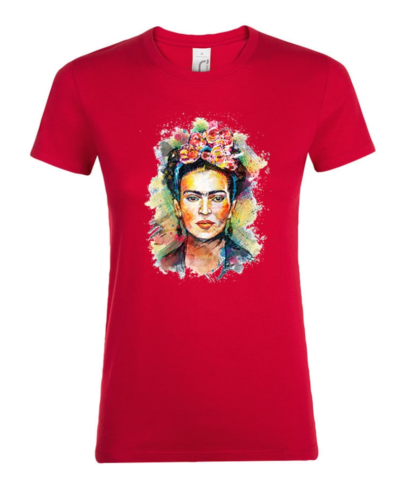 Womens Frida-Kahlo Artist Long Sleeve Cotton Hoodie Pullover Fashion Shirt Tops