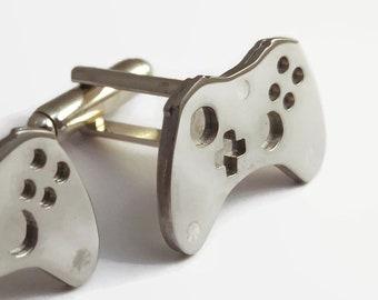 Video Game Cufflink Gaming Wedding Cuff Links Xbox Controller Cufflinks X Box Cuff Links Initial Engraving