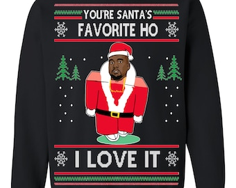 9f9bc615efdf OnCoast You're Santas's Favorite Ho, I Love It | Kanye Ugly Christmas  Sweater | Funny Ugly Christmas Sweater Holiday Gift