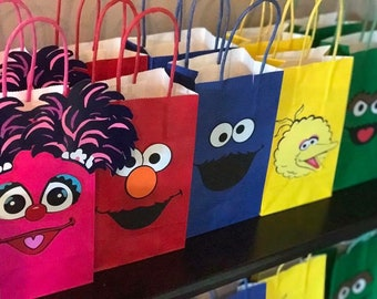 Sesame Street Birthday Party Goody Bags Supplies Ideas Goodie Cookie Monster Elmo Gift 1st Decorations Decor