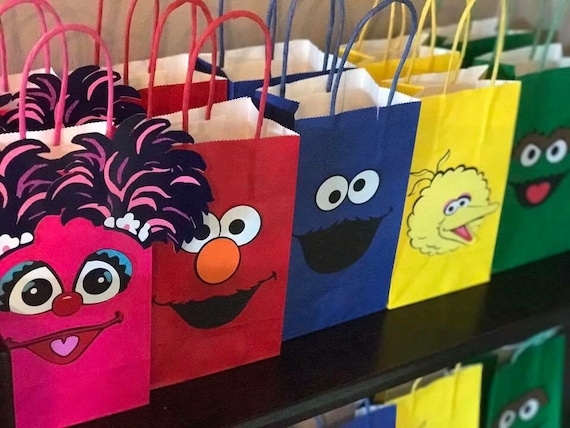 Sesame Street Birthday Party Goody Bags Supplies
